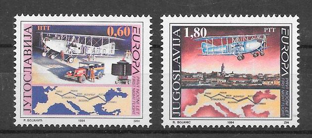 colección sellos Europa Yugoslavia 1994