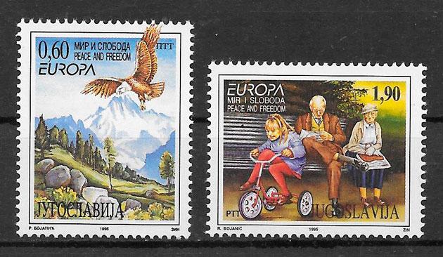 sellos Europa Yugoslavia 1995