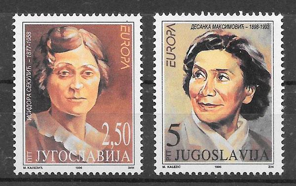 colección sellos Europa Yugoslavia 1996