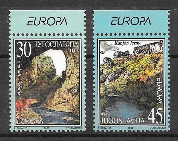 colección sellos Europa Yugoslavia 2001