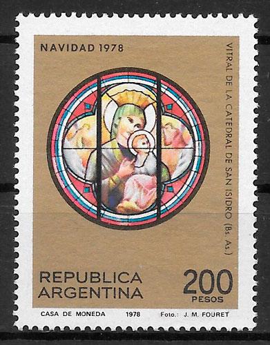 filatelia colección navidad Argentina 1978