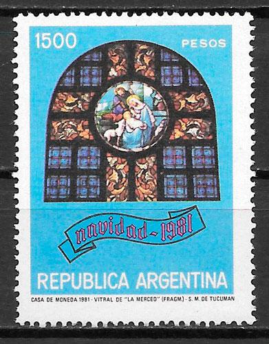sellos navidad Argentina 1981