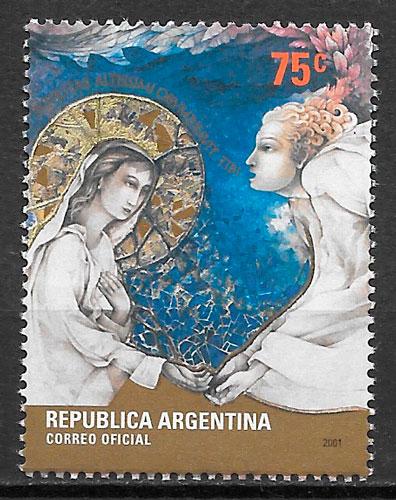 sellos navidad Argentina 2001