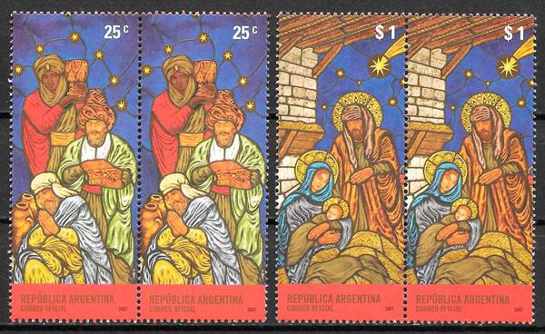 sellos navidad Argentina 2007