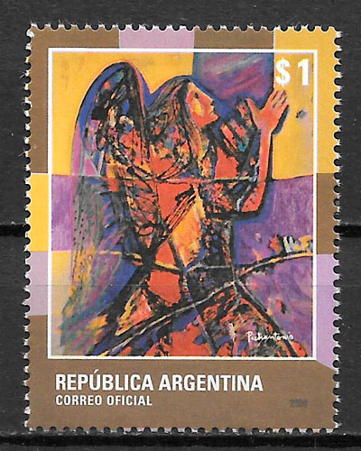 colección sellos navidad Argentina 2008