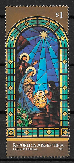 sellos navidad Argentina 2009