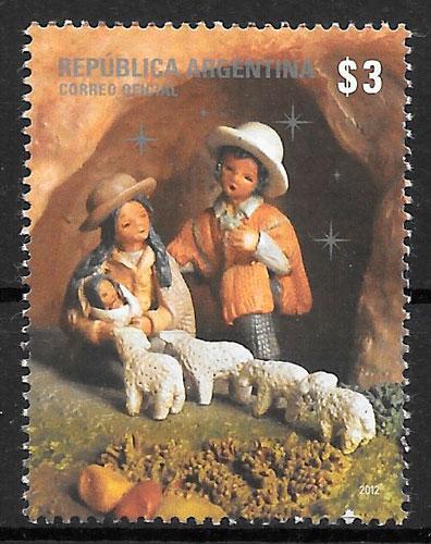 filatelia colección navidad Argentina 2012
