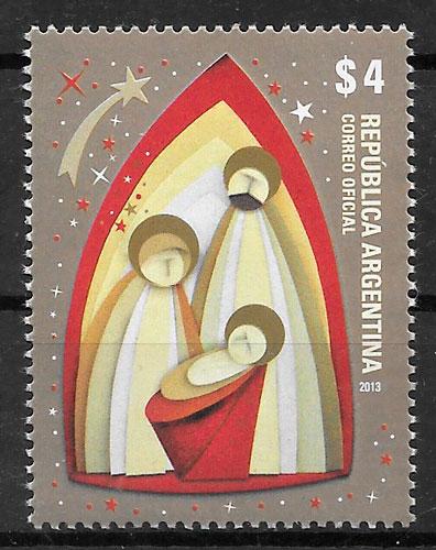 sellos navidad Argentina 2013