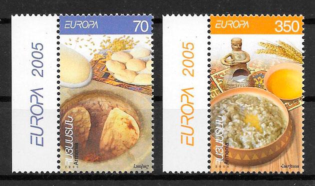 filatelia colección Europa Armenia 2005