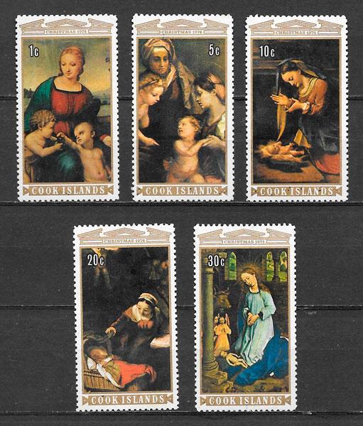 sellos navidad Cook Islands 1974