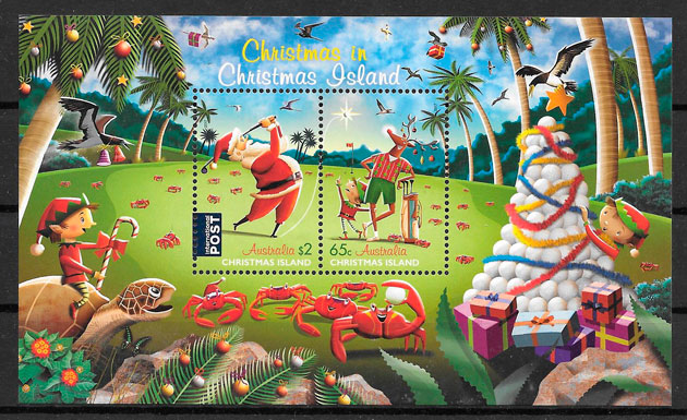 sellos navidad 2017 Christmas-Island-