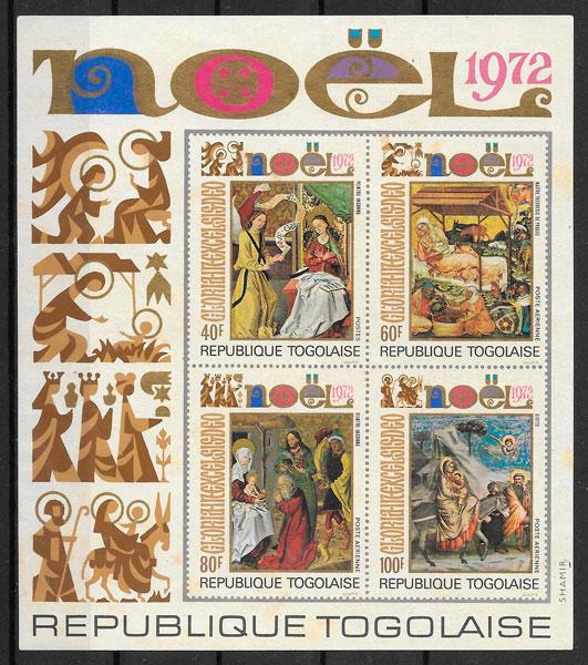 sellos navidad Togo 1972