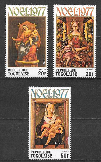 filatelia colección sellos navidad Togo 1974