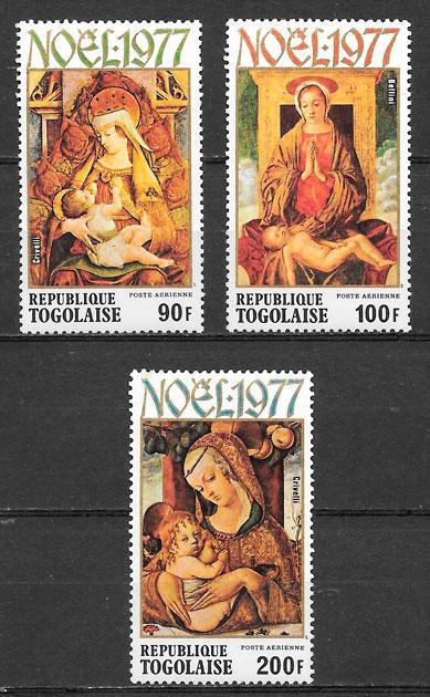 a colección sellos navidad Togo 1974