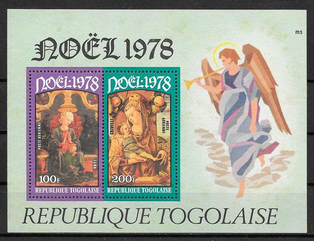 colección sellos navidad Togo 1978
