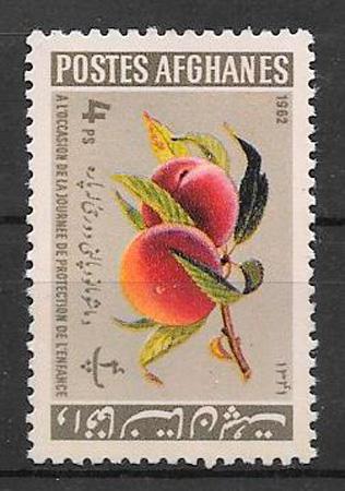 sellos frutas Afganistan 1962