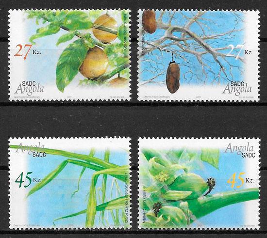 filatelia frutas Angola 2004