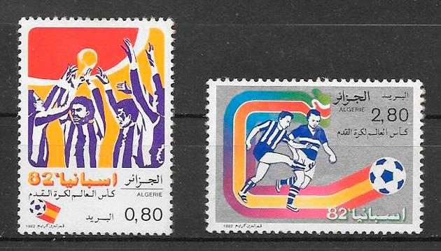filatelia colección fútbol Argelia 1982