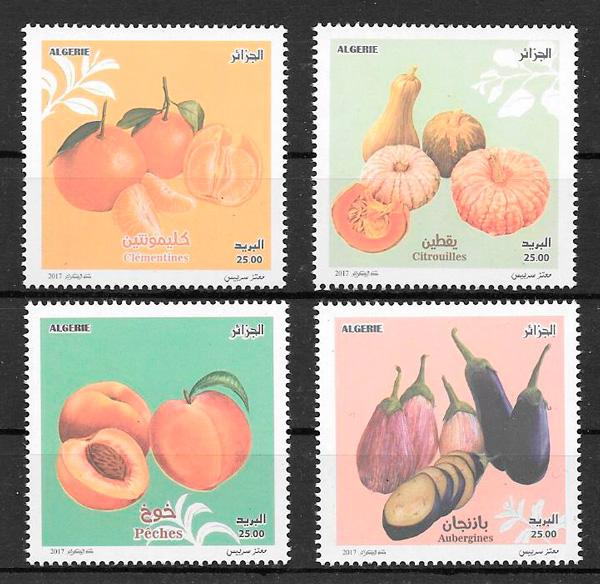 colección sellos frutas Argelia 2017