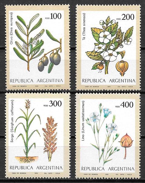 colección selos frutas Argentina 1979