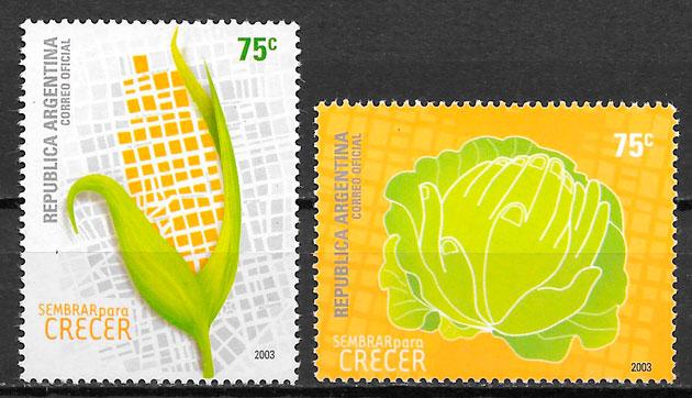 colección sellos frutas Argentina 2003