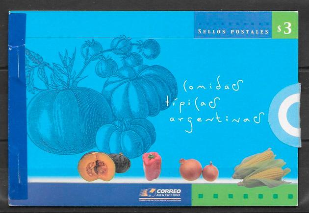 filatelia colección frutas y verduras Argentina 2003