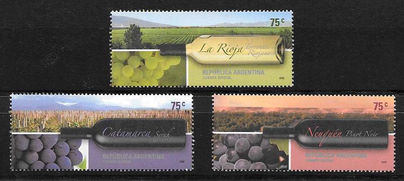 colección sellos frutas Argentina 2006