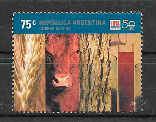 filatelia colección frutas Argentina 2006