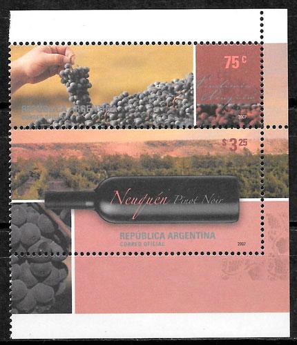 colección selos frutas Argentina 2007