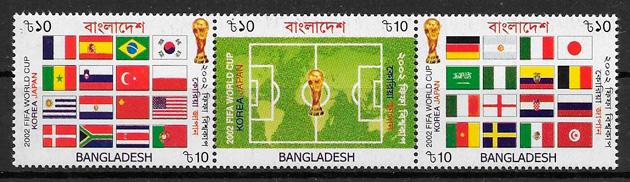 sellos fútbol Bangladesh 2002