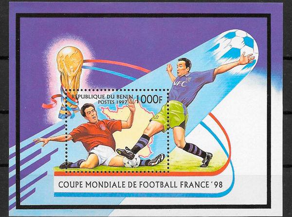 sellos fútbol Benin 1997