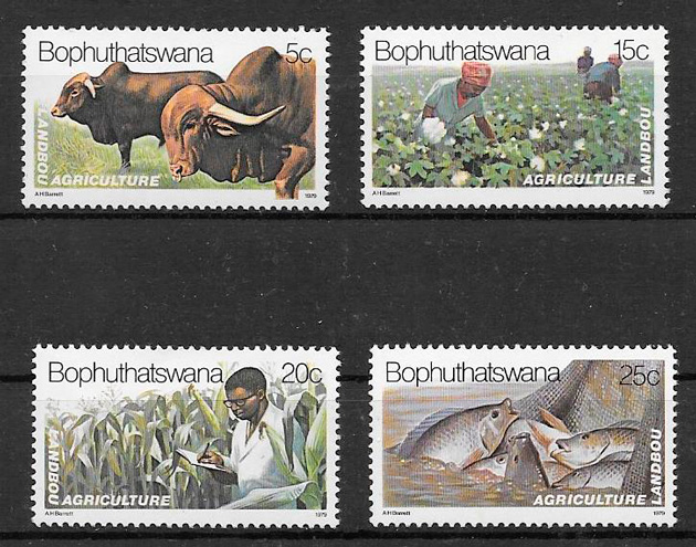 sellos frutas Bophuthaswana 1979