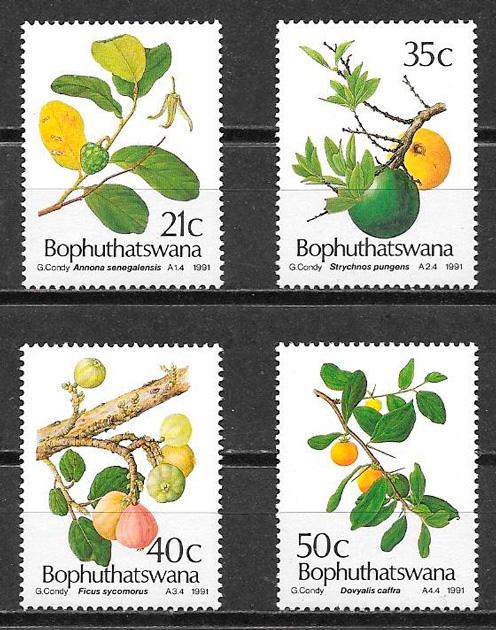 filatelia frutas 1991 Bophuthaswana