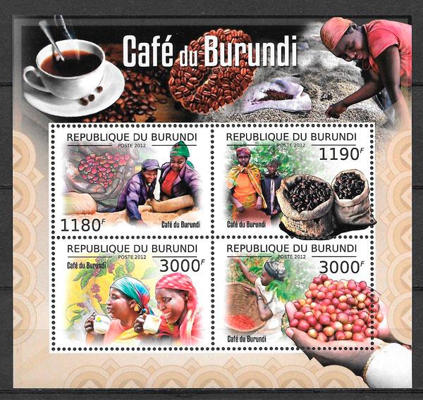 colección sellos frutas Burundi