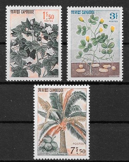 selos frutas Camboya 1965