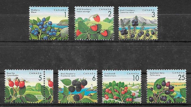 sellos frutas Canada 1992