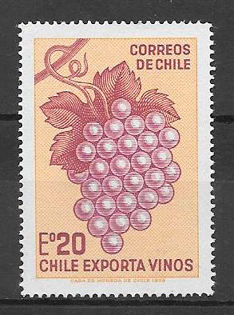 filatelia frutas Chile 1973
