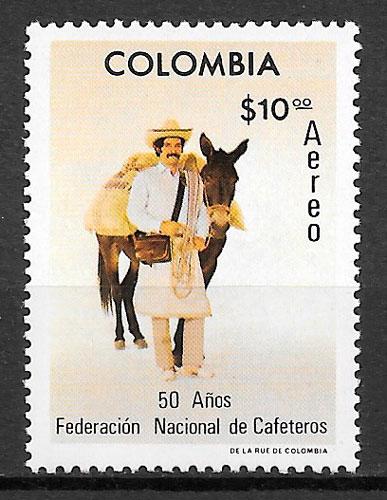filatelia frutas Colombia 1977