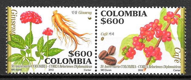 colección sellos frutas Colombia 2012