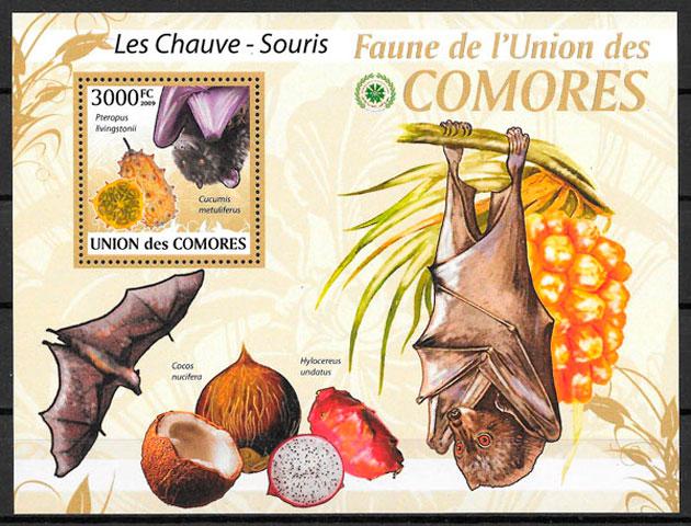 sellos frutas Comores 2009