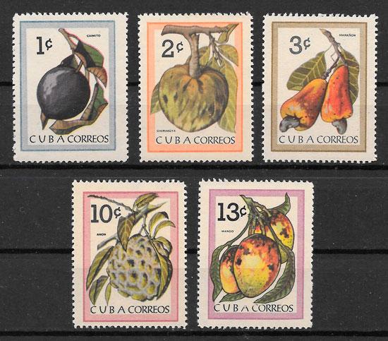 selos frutas Cuba 1963