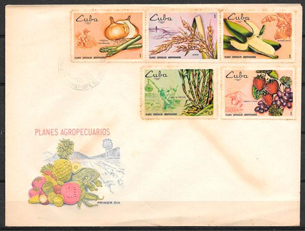 filatelia frutas Cuba 1969