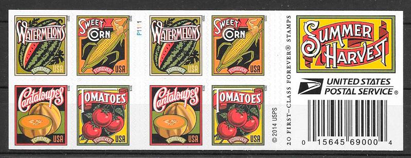 sellos frutas EE:UU 2015