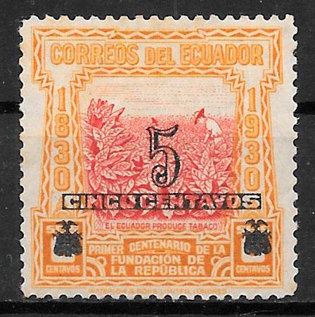 sellos frutas Ecuador 1933
