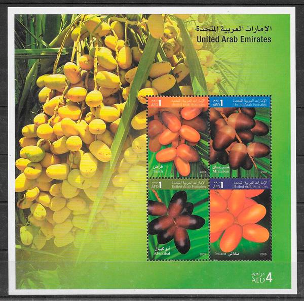 filatelia frutas E.A.Unidos 2008