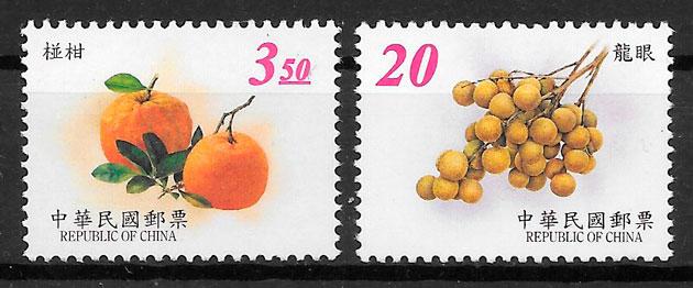 colección sellos frutas Formosa 2001