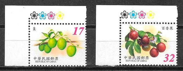 colección sellos frutas Formosa 2002