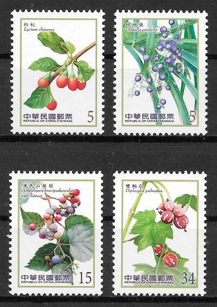 filatelia colección frutas 2014 Formosa