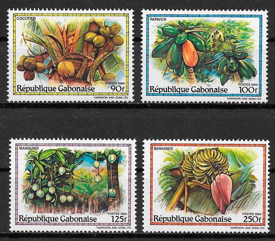 sellos frutas Gabon 1984