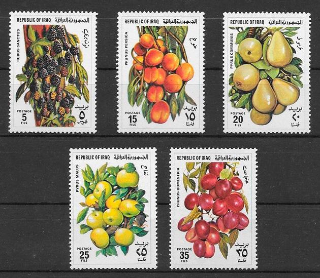 sellos frutas Iraq 1980